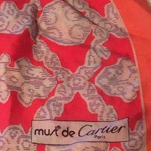 Must de Cartier wool scarf